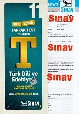 11. Sınıf Türk Dili ve Edebiyatı Yaprak Test