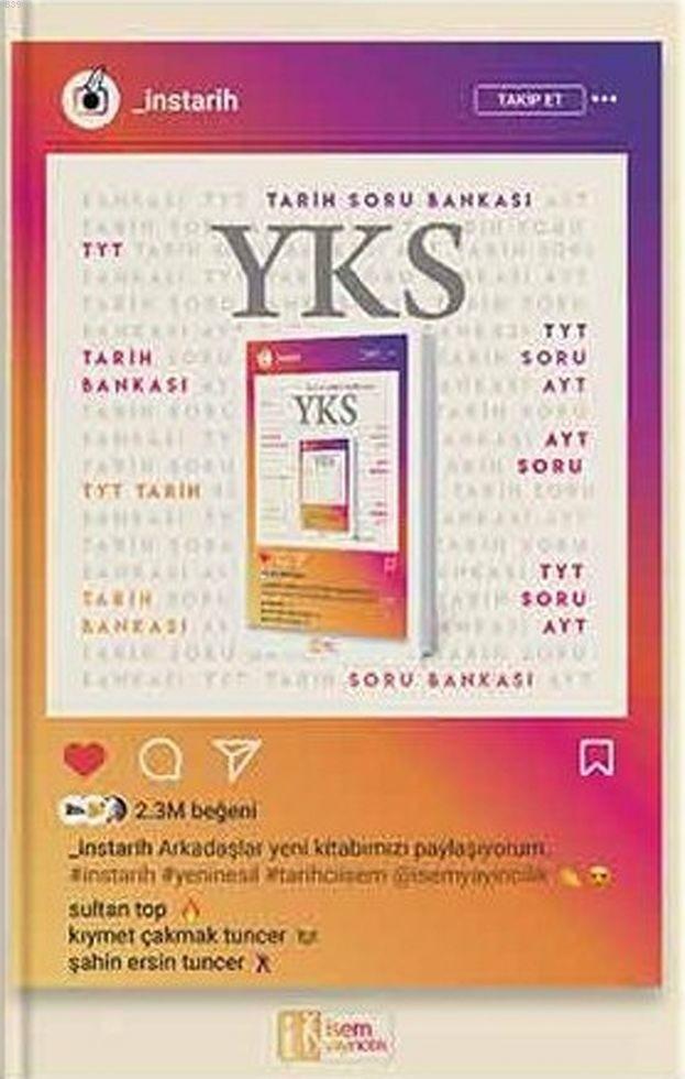 İsem Yayınları TYT AYT İnsTarih Soru Bankası İsem