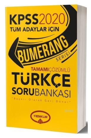 Yediiklim Kpss Bumerang Türkçe Tam.Çöz Soru 2020