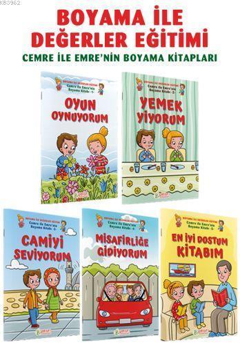 Cemre ile Emrenin Boyama Kitapları 5 Cilt