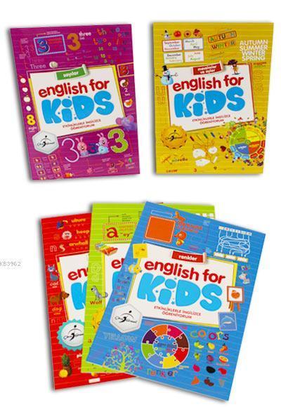 Etkinliklerle İngilizce Öğreniyorum 5 Kitap - English For Kids
