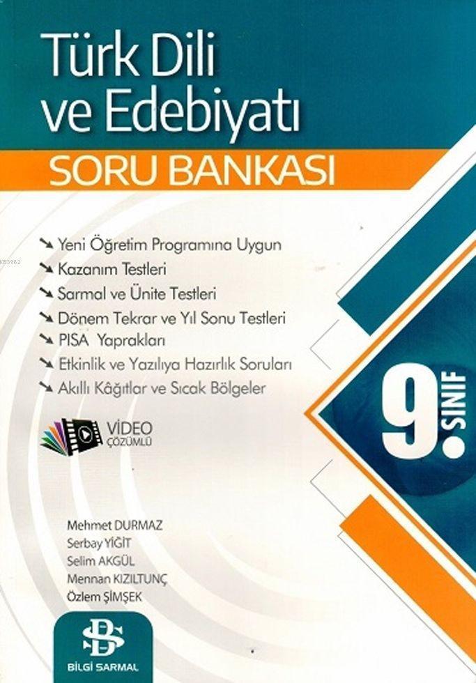 Bilgi Sarmal Yayınları 9. Sınıf Türk Dili ve Edebiyatı Soru Bankası Bilgi Sarmal
