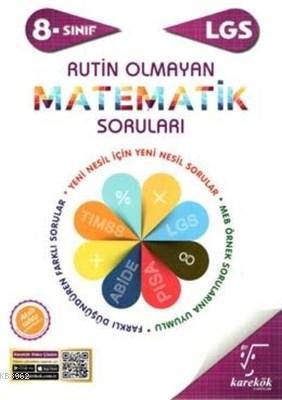Karekök Yayınları 8. Sınıf LGS Rutin Olmayan Matematik Soruları Karekök