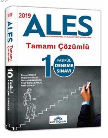 2019 ALES Tamamı Çözümlü 10 Fasikül Deneme Sınavı