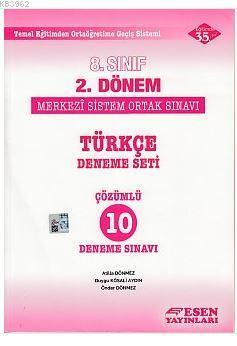 8. Sınıf 2. Dönem TEOG Türkçe Çözümlü 10 Deneme Sınavı