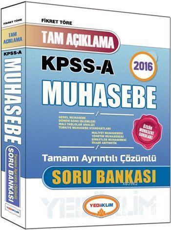 KPSS A Grubu Muhasebe Tam Açıklamalı Soru Bankası