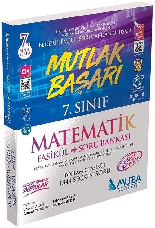 Muba Yayınları 7. Sınıf Matematik Mutlak Başarı Fasikül ve Soru Bankası Muba