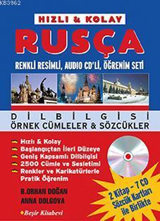 Rusça Öğrenim Seti; (2 Kitap, 7 Ses CD'si, 2 Sözcük Kartı Kutusu ile Birlikte)