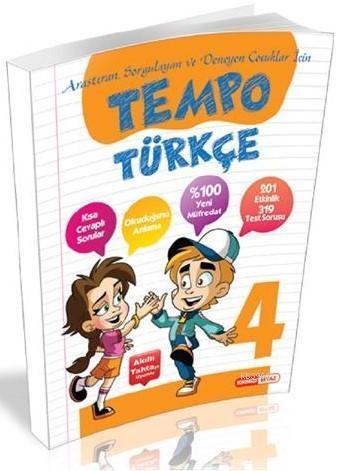 Kırmızı Beyaz Yayınları 4. Sınıf Tempo Türkçe Kırmızı Beyaz