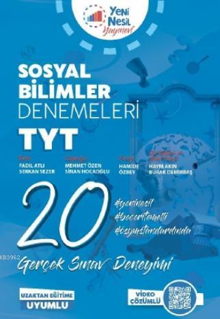 TYT Türkçe Sosyal Bilimler 20 Deneme Sınavı