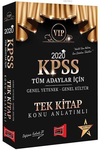 Yargı Kpss Gk-Gy Tüm Adaylar Tek Kitap Konu 2020
