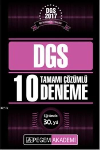 DGS Tamamı Çözümlü 10 Deneme 2017
