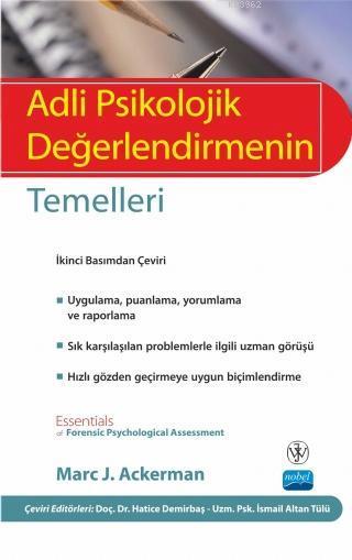 Adli Psikolojik Değerlendirmenin Temelleri - Essentials Of Forensic Psychological Assessment