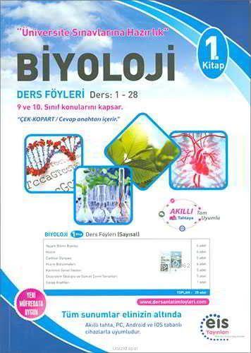 EİS Yayınları YKS Biyoloji Ders Anlatım Föyleri 1. Kitap EİS