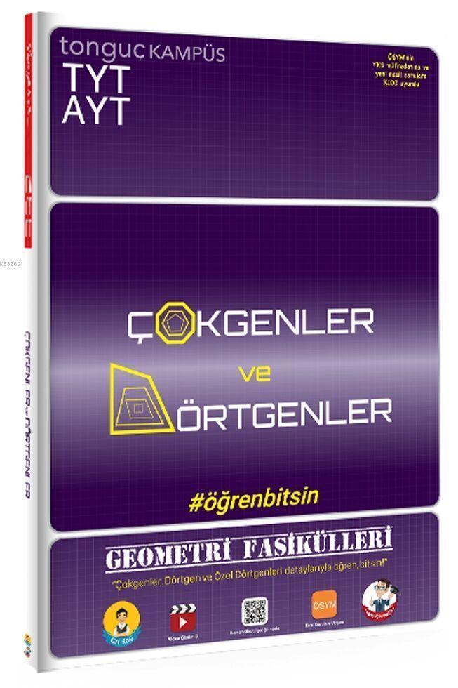 Tonguç Yayınları TYT AYT Geometri Fasikülleri Çokgenler ve Dörtgenler Tonguç