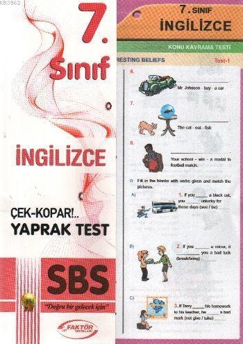 7. Sınıf İngilizce Yaprak Testler