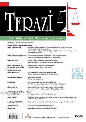 Terazi Aylık Hukuk Dergisi Sayı: 140 Nisan 2018