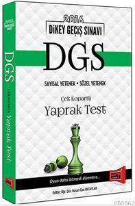 DGS Sayısal Yetenek Sözel Yetenek Yaprak Test 2016