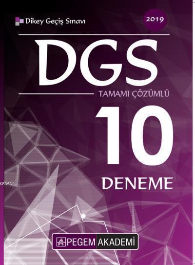 Pegem DGS Tamamı Çözümlü 10 Deneme