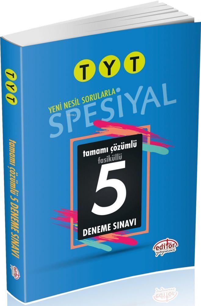 TYT Spesiyal Tamamı Çözümlü 5 Deneme Sınavı Fasiküllü