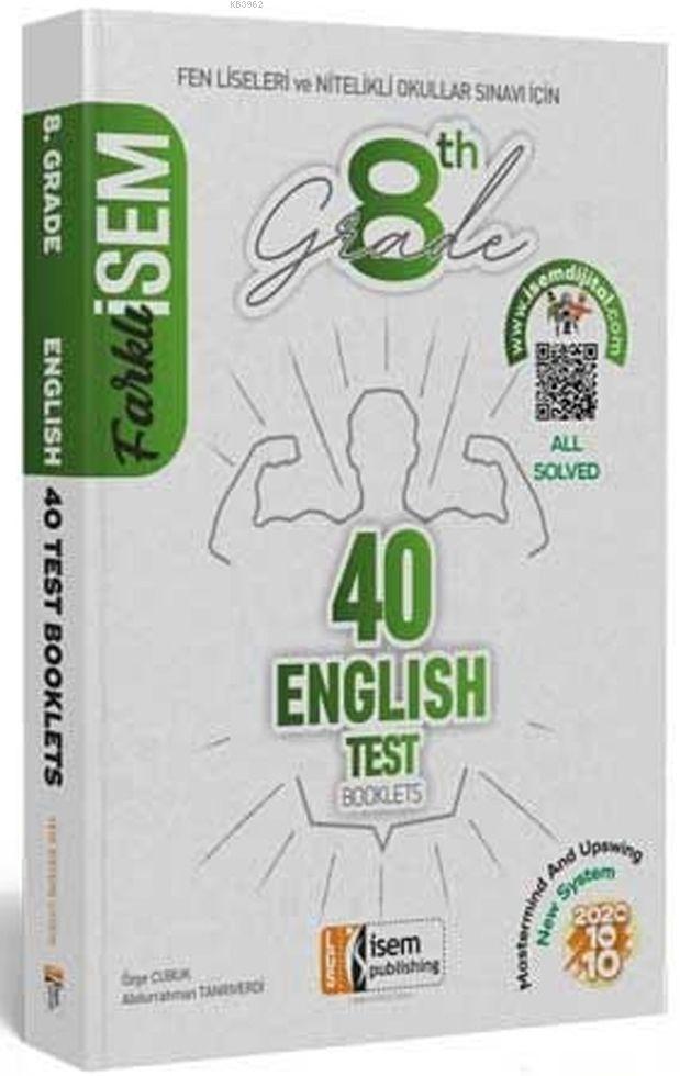 İsem Yayınları 8. Sınıf LGS İngilizce 40 Deneme Sınavı İsem