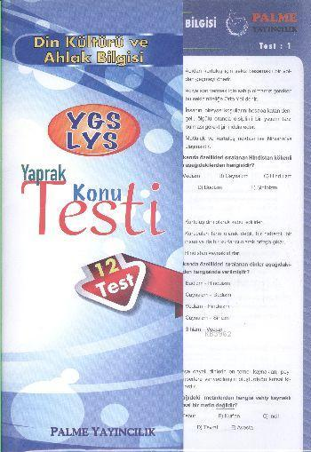 YGS LYS Din Kültürü ve Ahlak Bilgisi Yaprak Konu Testi