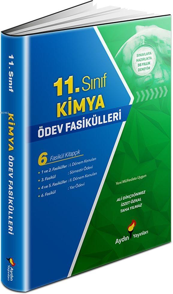 Aydın Yayınları 11. Sınıf Kimya Ödev Fasikülleri Aydın
