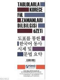 Tablolarla Korece Fiil Zamanları Dilbilgisi Özeti