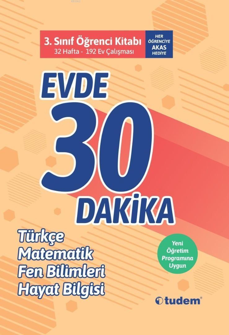 Tudem Yayınları 3. Sınıf Evde 30 Dakika Türkçe Matematik Fen Bilimleri Hayat Bilgisi Soru Ev Çalışması Tudem