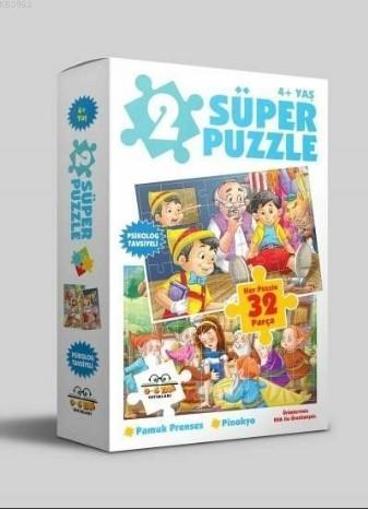 2 Süper Puzzle Pamuk Prenses- Pinokyo 32 Parça