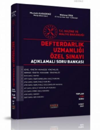 Defterdarlık Uzmanlığı Özel Sınavı Açıklamalı Soru Bankası 2021