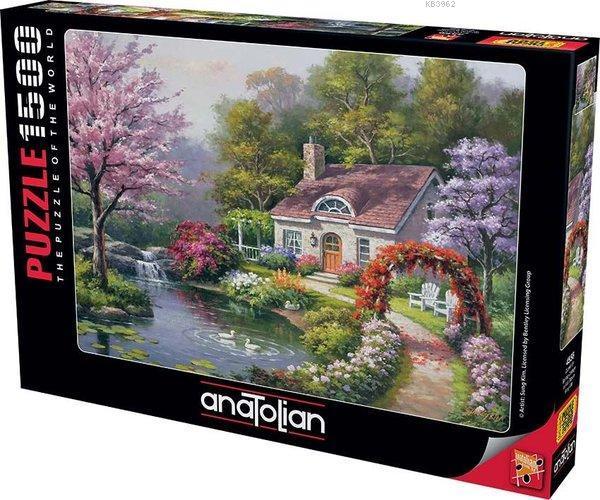 Anatolian-Puzzle 1500 Çiçekli Ev Spring Cottage In Full Bloom
