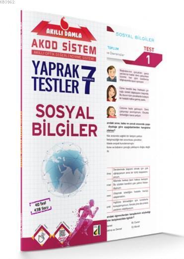 Akıllı Damla Sosyal Bilgiler Yaprak Testler 7. Sınıf; Akıllı Damla Akod Sistem (Akıllı Optik Değerlendirme Sistemi) Yaprak Testler