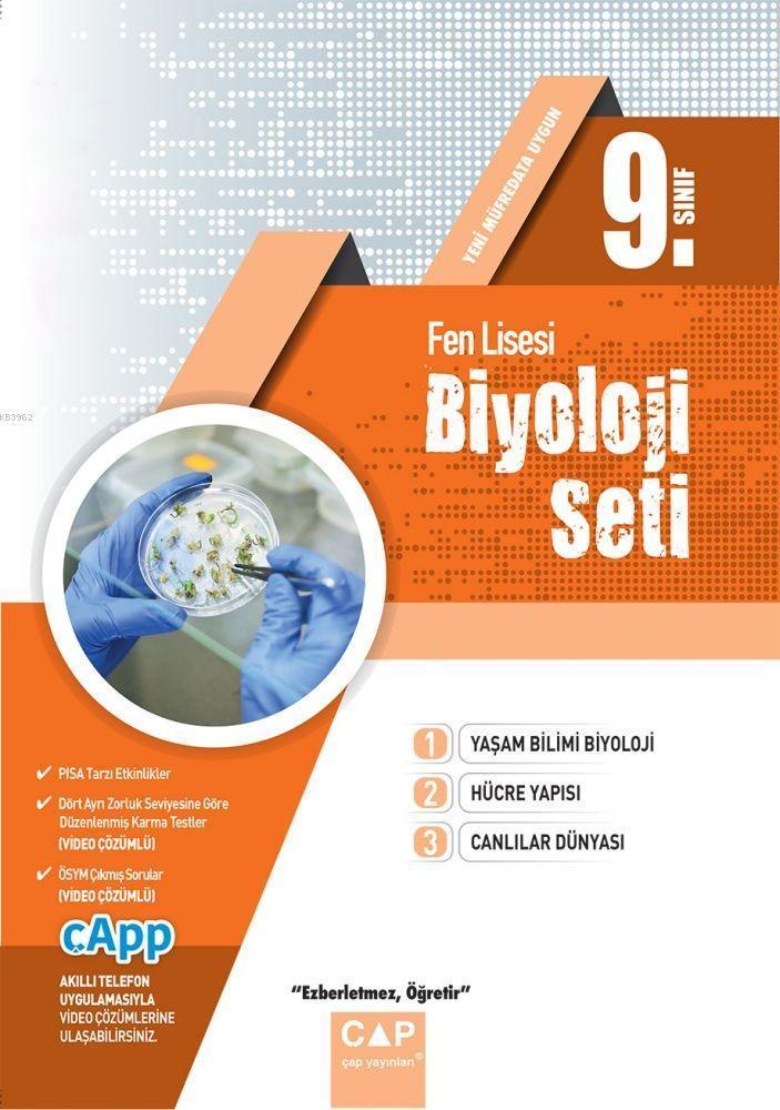 Çap Yayınları 9. Sınıf Fen Lisesi Biyoloji Seti Çap