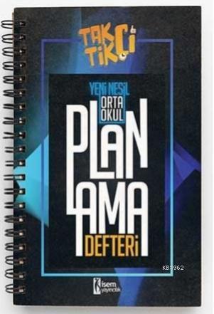 İsem 2021 Taktikçi Orta Okul Yeni Nesil Planlama Defteri İsem Yayıncılık