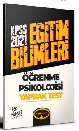 Yediiklim 2021 KPSS Öğrenme Psikolojisi Çek Kopart Yaprak Test