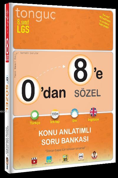 Tonguç Yayınları 8. Sınıf 0 dan 8 e Sözel Konu Anlatımlı Soru Bankası Tonguç