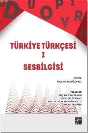 Türkiye Türkçesi 1; Ses Bilgisi