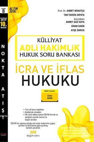 Külliyat İcra ve İflas Hukuku Soru Bankası Adli Hakimlik Savaş Yayınları Haziran 2019