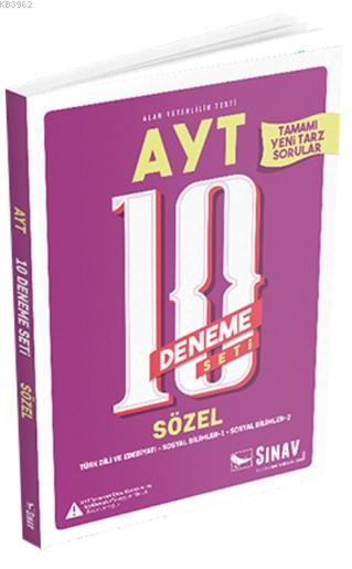 2019 AYT Sözel 10 Deneme Seti; Türk Dili ve Edebiyatı - Sosyal Bilimler 1 - Sosyal Bilimler 2