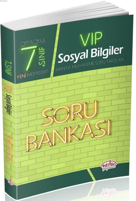 Editör Yayınları 7. Sınıf VIP Sosyal Bilgiler Soru Bankası Editör