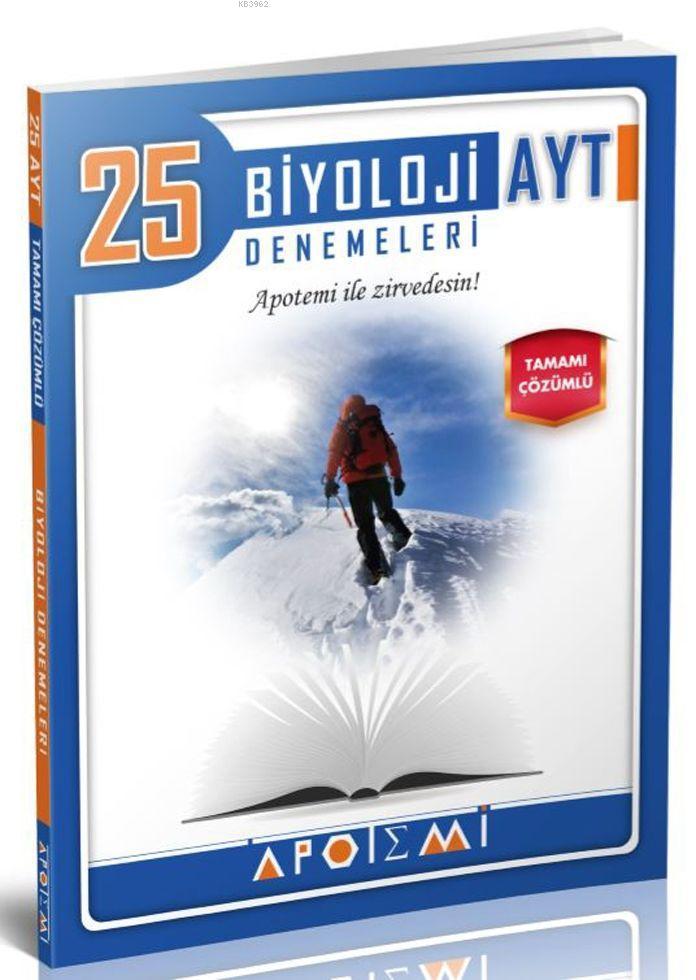 Apotemi AYT Biyoloji Tamamı Çözümlü 25 Deneme
