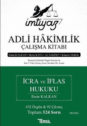 İmtiyaz - Adli Hakimlik Çalışma Kitabı - İcra ve İflas Hukuku