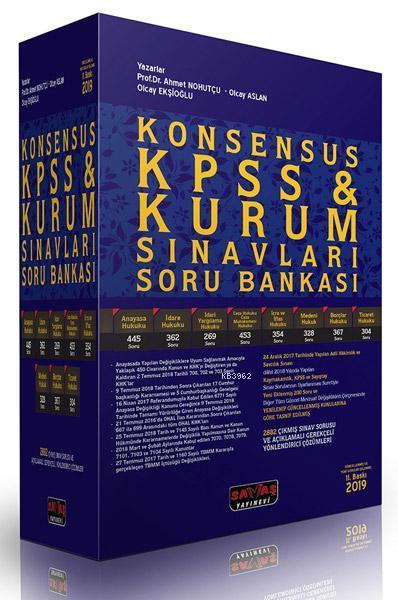 Konsensus Kpss ve Kurum Sınavları Hukuk Soru Bankası 2019; KPSS A Grubu