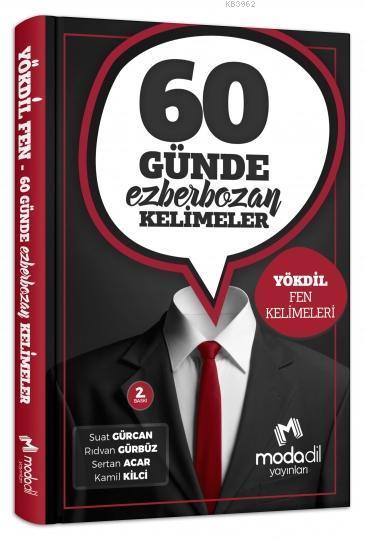 60 Günde Ezber Bozan Yökdil Fen Kelimleri Modadil Yayınları