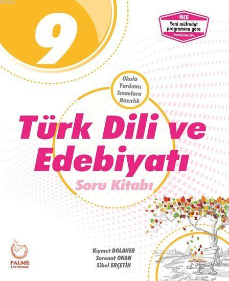 Palme Yayınları 9. Sınıf Türk Dili ve Edebiyatı Soru Kitabı Palme