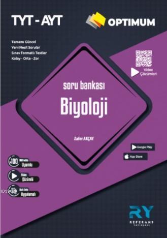 Referans Optimum TYT-AYT Biyoloji Soru Bankası Video Çözümlü 2021