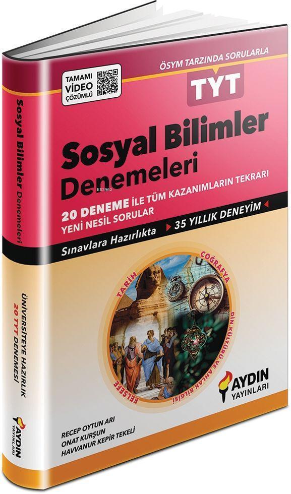 Aydın Yayınları TYT Sosyal Bilimler 20 li Denemeleri Aydın