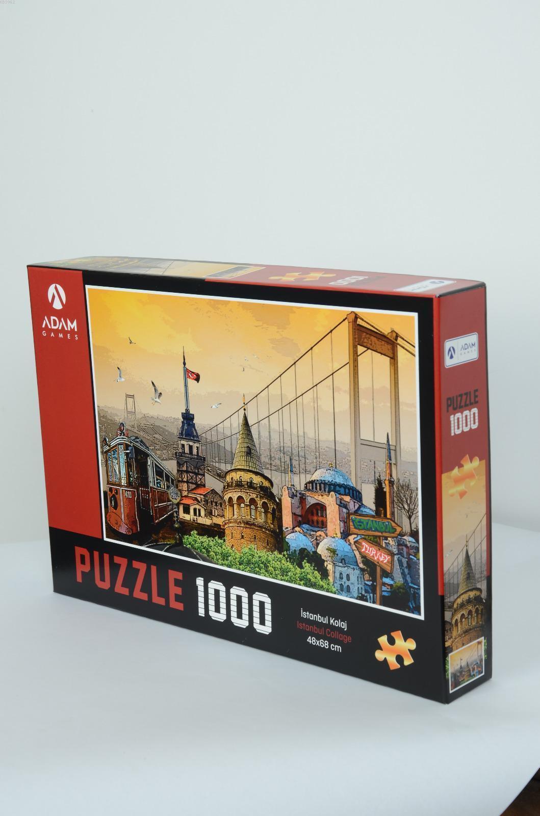 Adam Games İstanbul Kolaj 1000 Parça Puzzle 48x68