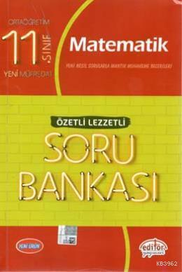 Editör Yayınları 11. Sınıf Matematik Özetli Lezzetli Soru Bankası Editör